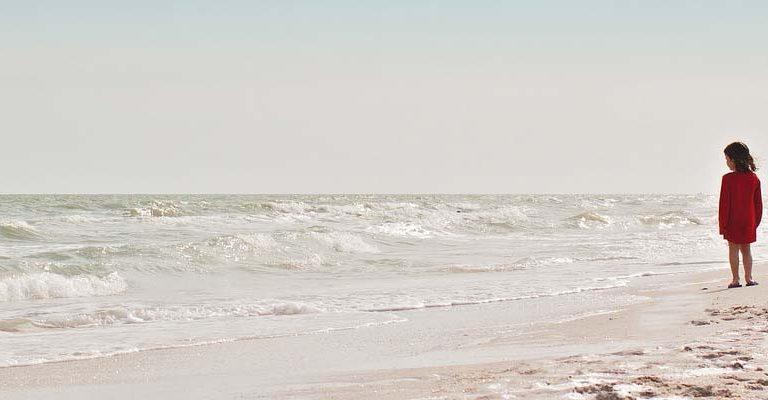 Ocean Beach Girl Waves